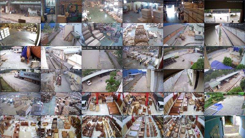 Dự án lắp đặt camera quan sát công ty sản xuất gỗ tại quận tân phú